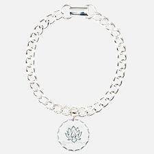 Buddha Lotus Flower Peace quote Bracelet