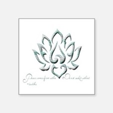 Buddha Lotus Flower Peace quote Sticker