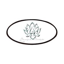 Buddha Lotus Flower Peace quote Patches