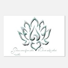 Buddha Lotus Flower Peace quote Postcards (Package