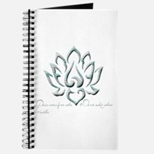 Buddha Lotus Flower Peace quote Journal