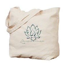 Buddha Lotus Flower Peace quote Tote Bag