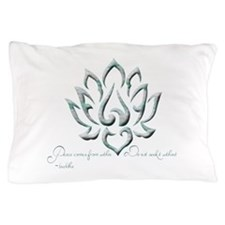 Buddha Lotus Flower Peace quote Pillow Case