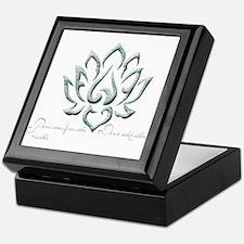 Buddha Lotus Flower Peace quote Keepsake Box