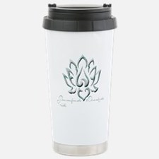 Buddha Lotus Flower Peace quote Travel Mug