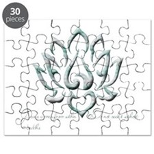 Buddha Lotus Flower Peace quote Puzzle