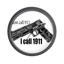 call 1911 Wall Clock