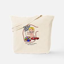 EGGBERT Blonde Car Driver Tote Bag