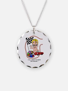 EGGBERT Blonde Car Driver Necklace