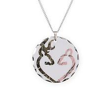 buck nd doe heart Necklace