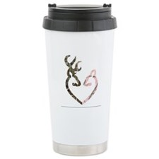 buck nd doe heart Travel Mug