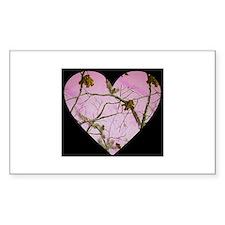 pink camo heart Decal