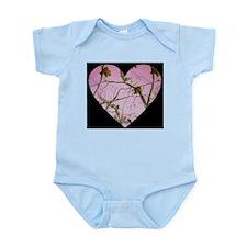 pink camo heart Body Suit
