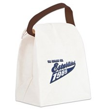 1989 birthday designs Canvas Lunch Bag