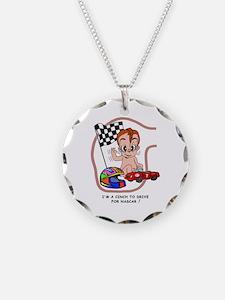EGGBERT Redhead Car Driver Necklace