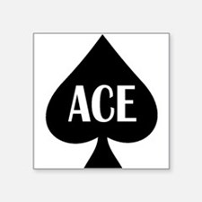 "Ace1.png Square Sticker 3"" x 3"""