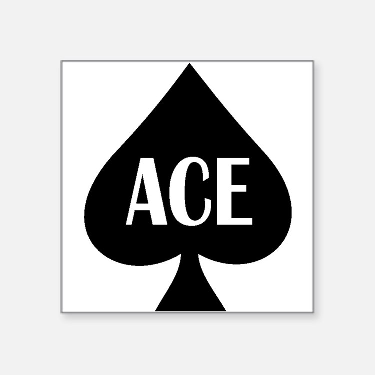 """Ace1.png Square Sticker 3"""" x 3"""""""