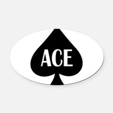 Ace1.png Oval Car Magnet
