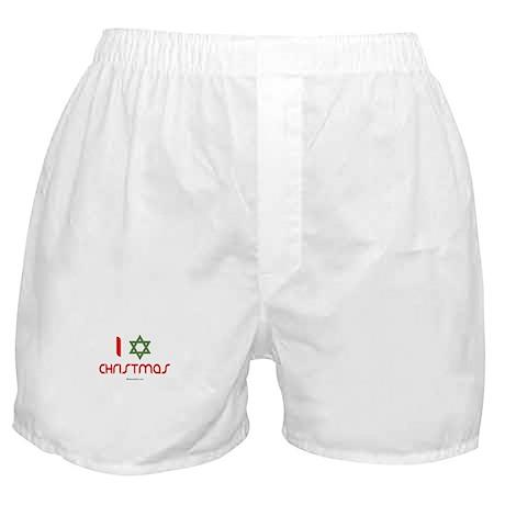 I love Christmas (star of david) Boxer Shorts