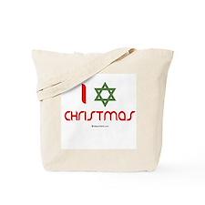 I love Christmas (star of david) Tote Bag