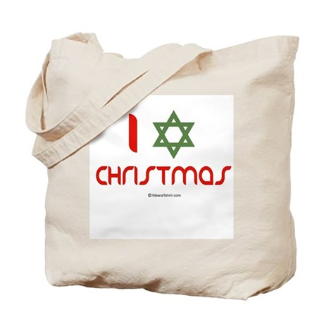 I love Christmas (star of david) Tote Bag