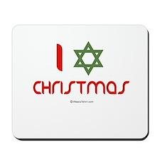 I love Christmas (star of david) Mousepad