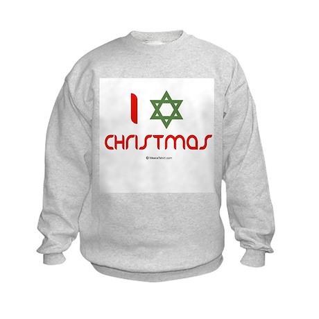 I love Christmas (star of david) Kids Sweatshirt