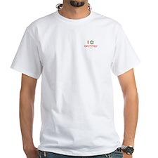 I love Christmas (star of david) White T-shirt