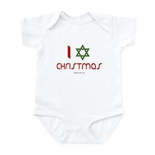 I love Christmas (star of david) Infant Bodysuit