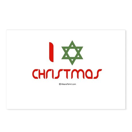I love Christmas (star of david) Postcards (Packag