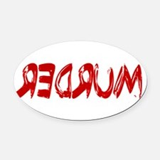 Redrum.png Oval Car Magnet