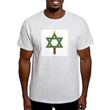 Christm()ukkah Tree Ash Grey T-Shirt