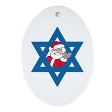 Christm()ukkah Oval Ornament