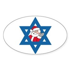 Christm()ukkah Oval Decal