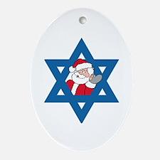 Christm()ukkah Oval Ornament