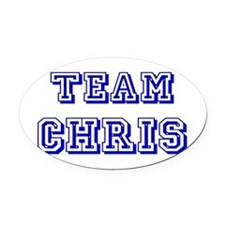 Team Chris blue.png Oval Car Magnet