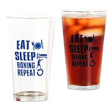 Eat sleep Boxing Drinking Glass