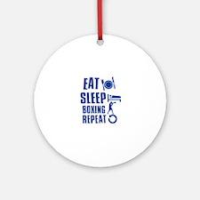 Eat sleep Boxing Ornament (Round)