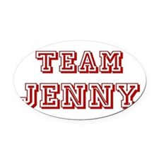 Team Jenny red.png Oval Car Magnet