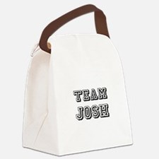 Team Josh blk.png Canvas Lunch Bag