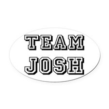 Team Josh blk.png Oval Car Magnet
