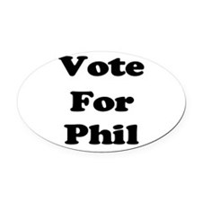 Vote Phil blk.png Oval Car Magnet
