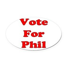 Vote Phil red.png Oval Car Magnet