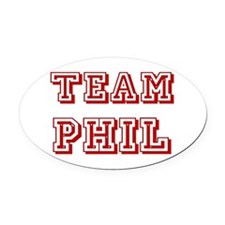 Team Phil red.png Oval Car Magnet