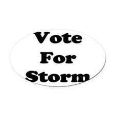 Vote Storm blk.png Oval Car Magnet