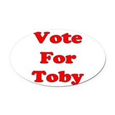 Vote Toby red.png Oval Car Magnet