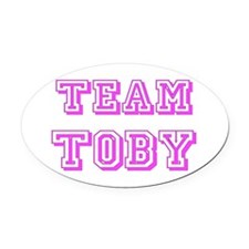 Team Toby pink.png Oval Car Magnet