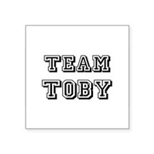 "Team Toby blk.png Square Sticker 3"" x 3"""