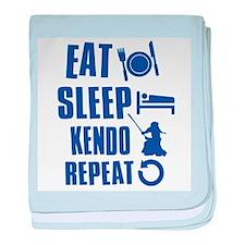 Eat sleep Kendo baby blanket