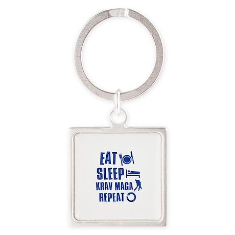 Eat sleep Krav Maga Square Keychain